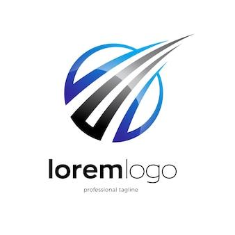 Disegno astratto del logo di crescita