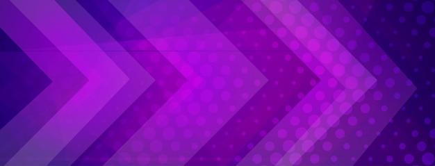 Sfondo astratto mezzitoni fatto di punti e forme geometriche in colori viola