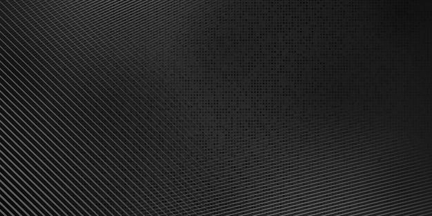 Sfondo astratto mezzitoni fatto di punti e linee nei colori nero e grigio