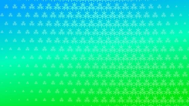 Sfondo astratto mezzitoni di piccoli simboli nei colori verde e blu