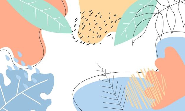 Fondo astratto di forma della natura del disegno della mano. il modello strutturato per banner.