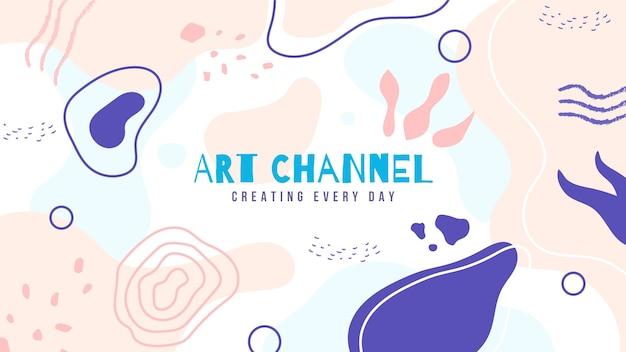 Arte del canale di youtube artigianale disegnata a mano astratta