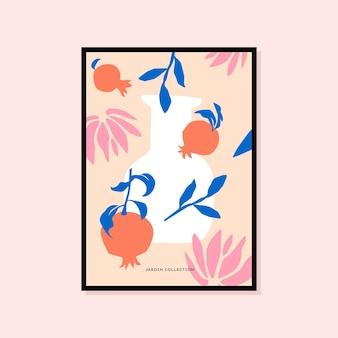 Poster astratto disegnato a mano perfetto per la collezione di arte murale