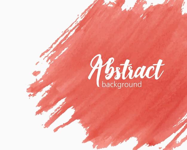 Sfondo acquerello dipinto a mano astratto con segno di vernice, macchia, macchia, sbavatura o sbavatura di colore rosso vivo