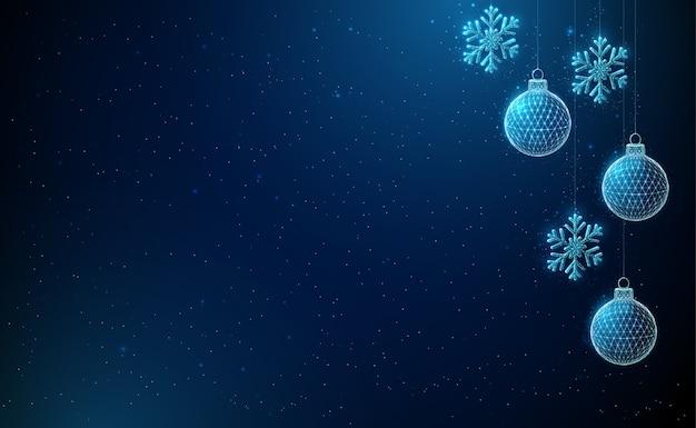 Astratto felice anno nuovo e buon natale sfondo
