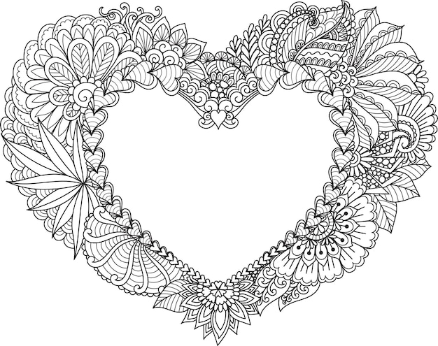 Cornice cuore astratto