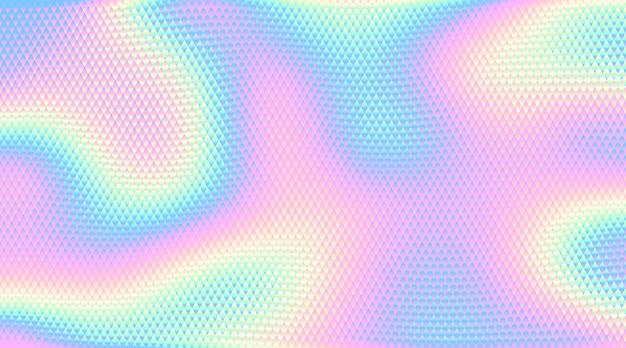Fondo olografico astratto. rgb. colori globali. una linea sfumata utilizzata