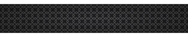 Banner orizzontale astratto di piccoli quadrati intrecciati su sfondo nero