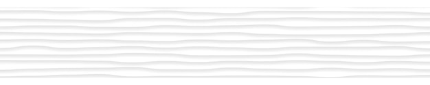 Banner orizzontale astratto di linee ondulate con ombre nei colori bianco e grigio