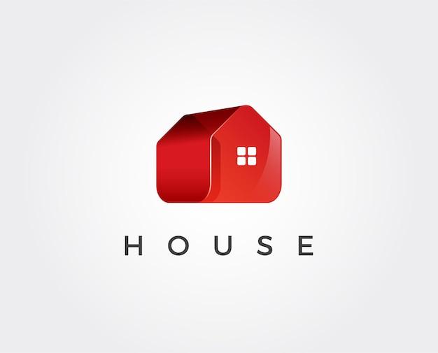Modello di progettazione del logo astratto della casa