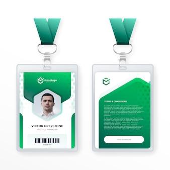 Modello di carta d'identità astratta