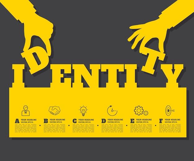 Sfondo astratto idea. infografica aziendale
