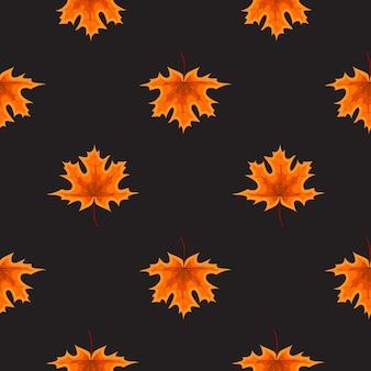 Illustrazione astratta autumn seamless pattern background con caduta di foglie di autunno.