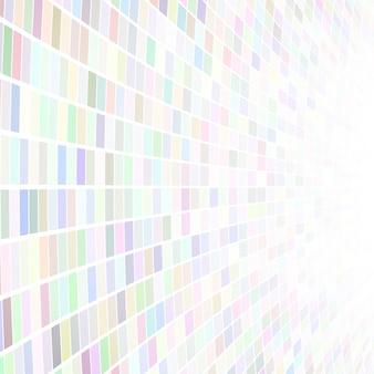 Illustrazione astratta di piccoli quadrati o pixel multicolori su sfondo bianco