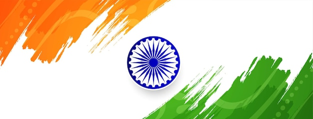 Bandiera indiana astratta a tema banner