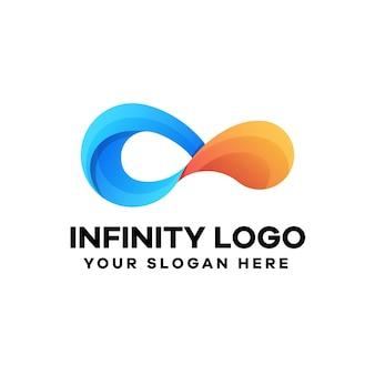 Design del logo sfumato infinito astratto