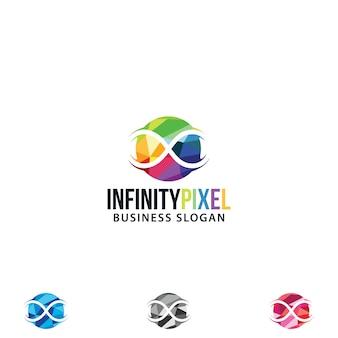 Logo infinity astratto