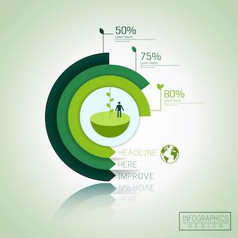Modello infografico astratto con elemento ad anello