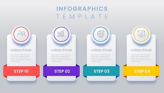 Infografica astratta con 4 opzioni numero illustrazione