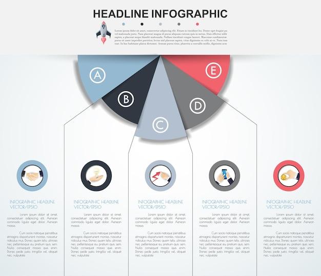Modello astratto di opzioni di numero di infographics. illustrazione.
