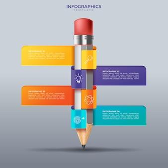 Modello astratto di opzioni di numero di infographics. illustrazione vettoriale. può essere utilizzato per layout del flusso di lavoro, diagramma, opzioni di passaggi aziendali, banner, web design.