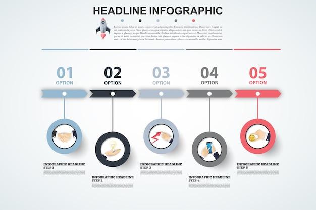 Modello di opzioni numero infografica astratta illustrazione vettoriale può essere utilizzato per il layout del flusso di lavoro