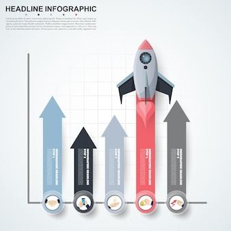 Modello astratto di opzioni di numero di infographics.