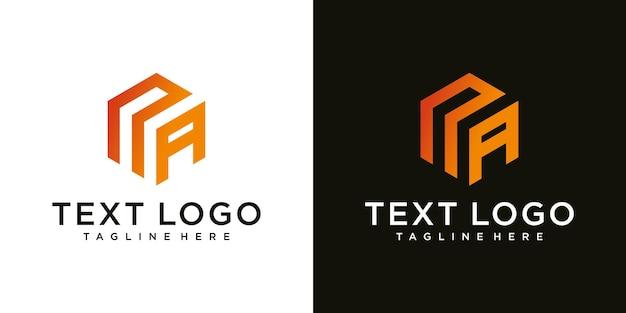 Lettera iniziale astratta na na minimal logo design template