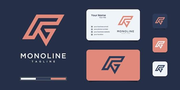 Lettera iniziale astratta p & g o modello di logo pg. icone per il business della moda, del branding, semplice.