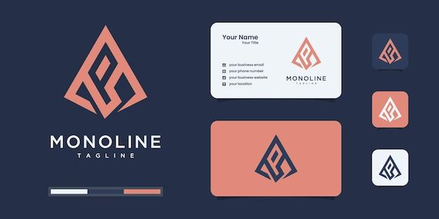 Modello di progettazione di logo di lettera iniziale astratta p. icone per il business del lusso