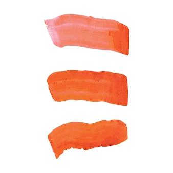 Macchia dell'acquerello di vettore colorato isolato astratto. elemento per il design della carta, annuncio. colori vivaci isolati su sfondo bianco. disegni con copyspace, schizzi di pennelli. minimalista.