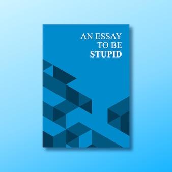 Copertina del libro minimalista isometrica astratta