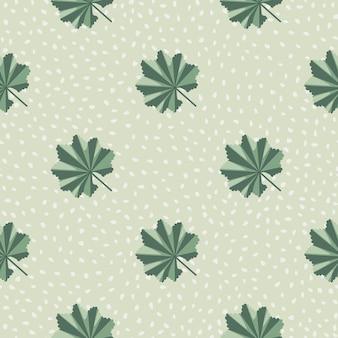 Modello senza cuciture colorato verde foglia della giungla astratta nello stile di scarabocchio