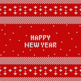 Reticolo lavorato a maglia astratto del nuovo anno. trama a maglia invernale per capodanno, carta da regalo di buon natale.