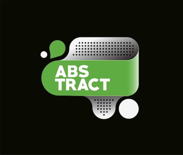 Manifesto astratto dell'insegna dell'etichetta con lo spazio del vostro testo, illustrazione di vettore forme di progettazione.