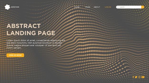 Pagina di destinazione astratta per il sito web aziendale