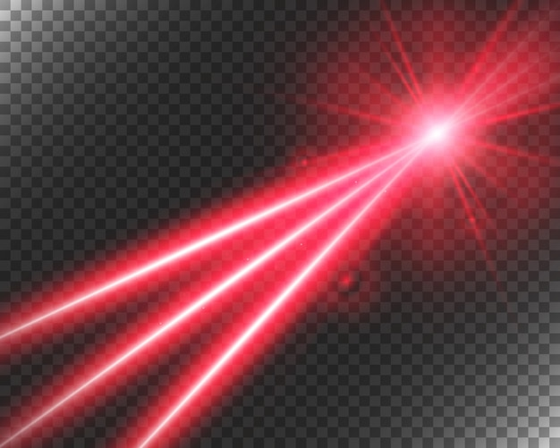 Raggio laser astratto. trasparente su sfondo nero. illustrazione.