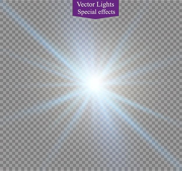 Abstract lente d'oro frontale solare flare trasparente speciale effetto di luce design