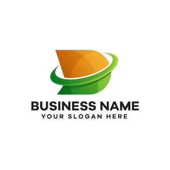 Abstract lettera d gradiente logo design