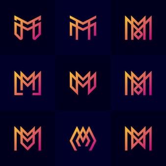 Set astratto lettera m