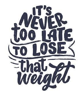 Lettering astratto su sport e fitness per poster o stampa. uno stile di vita sano.