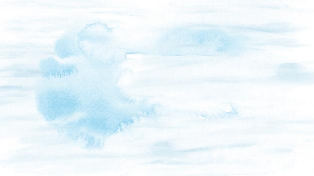 Macchia dell'acquerello blu chiaro astratto per lo sfondo