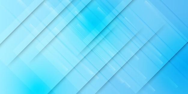 Ondulato azzurro astratto con sfondo sfocato di linee curve di luce
