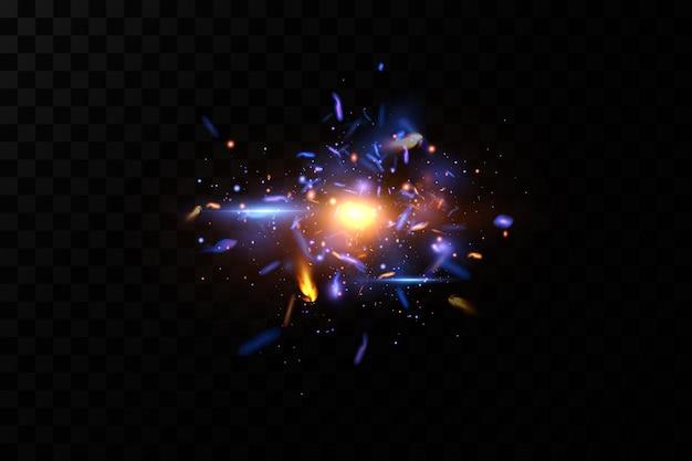Luce astratta scintille al neon spaziale.