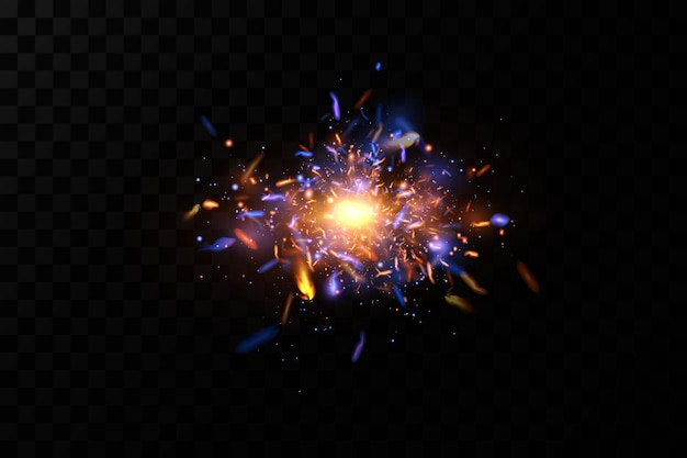 Luce astratta. scintille al neon spaziale.