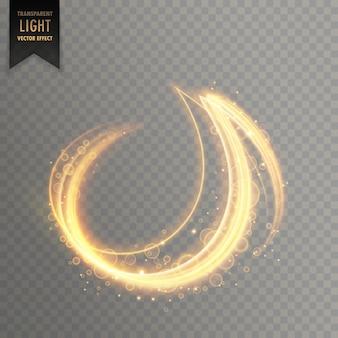 Vettore di linee striscia astratta di luce