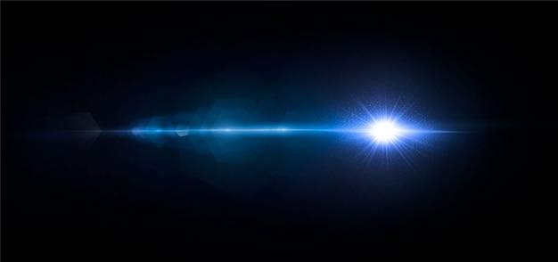 Illuminazione astratta di una stella cosmica o di una galassia sole splendente con abbagliamento e chiarore