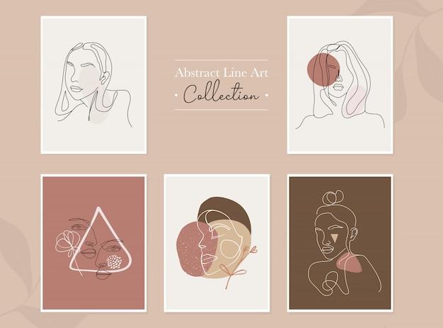 Linea arte astratta donna illustrazione