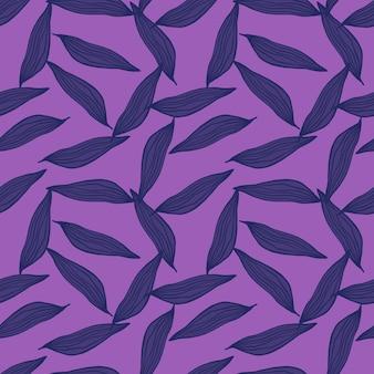 La linea astratta lascia il modello su sfondo viola. contesto botanico. c