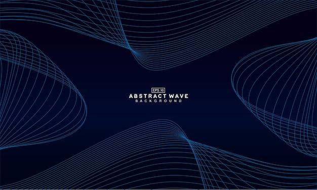 Modello di sfondo onda linea astratta